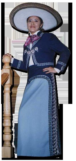 Vestido de mariachi mujer